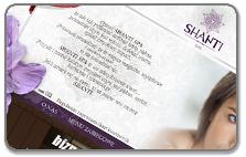 Strona internetowa salonu ShantiSpa w Łodzi